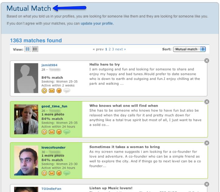 match.com mutual match