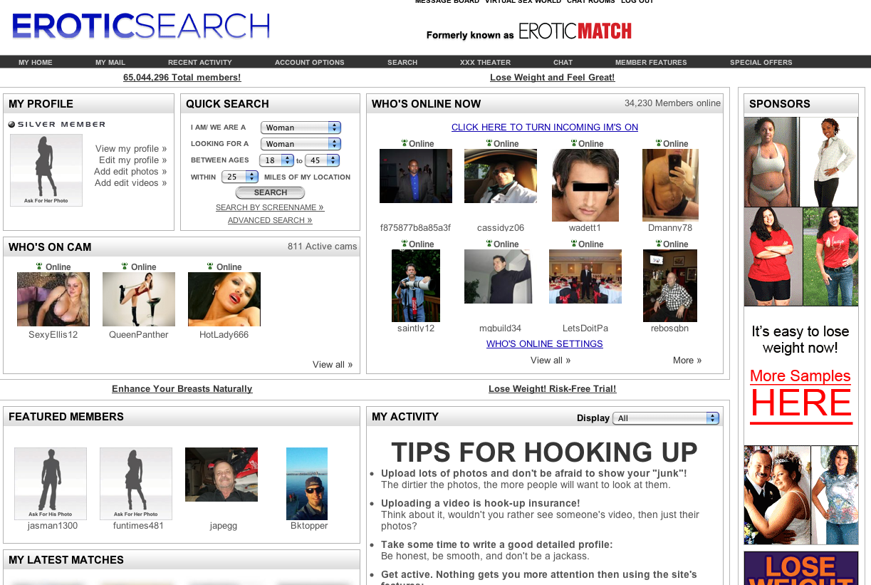 the erotic review search